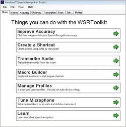 WSRToolkit V.3 for Windows Speech Recognition Interface